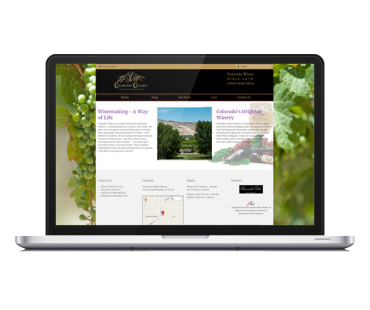 Colorado Cellars web design by Karlyle Walker and Lifebloom Creative