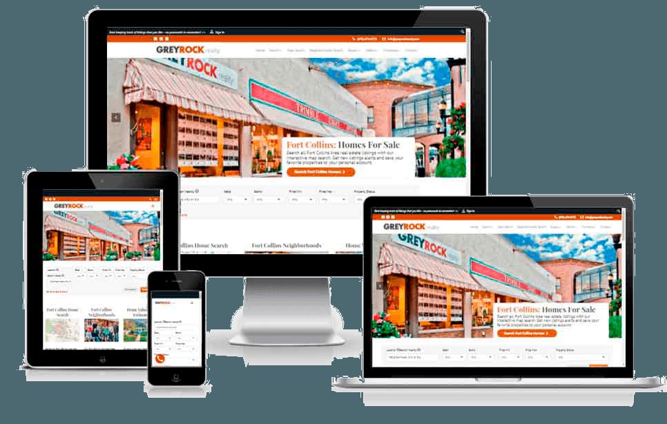 Real Estate WordPress Design & Development – Grey Rock Realty – Fort Collins, CO