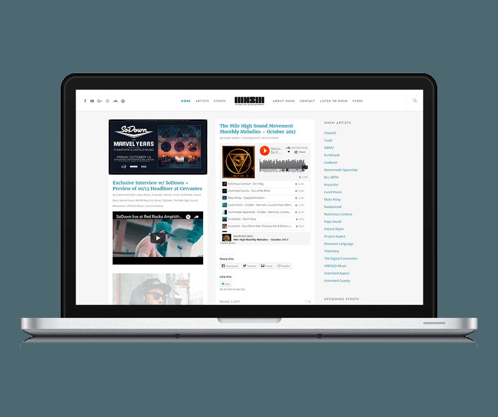 Fort Collins WordPress Design & WordPress Website Redesign for Record Label