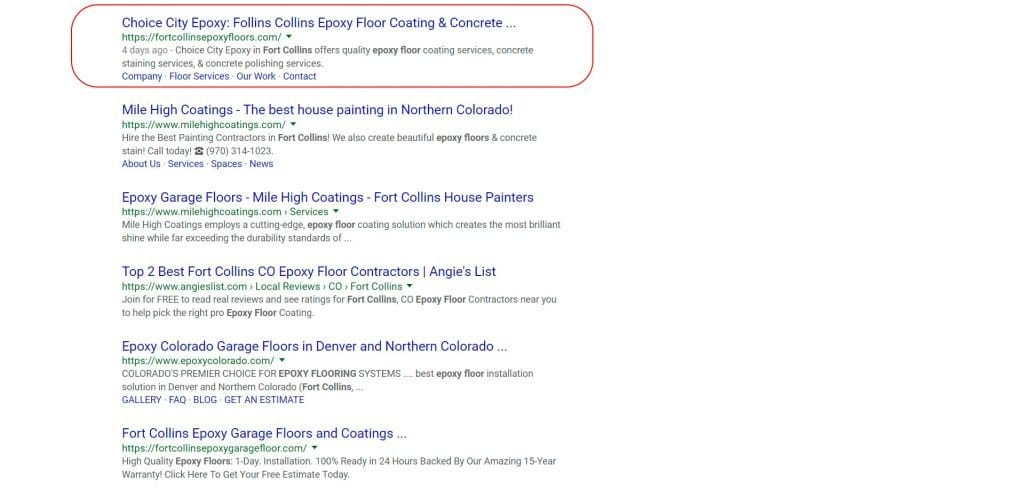 Fort Collins WordPress Design & SEO Experts for Choice City Epoxy