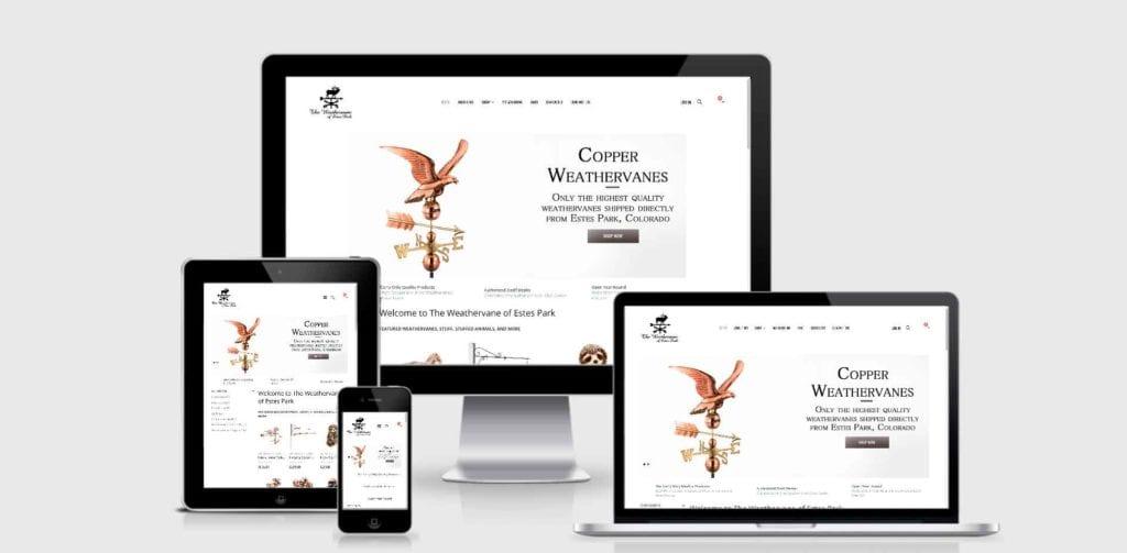 WordPress Design and WooCommerce Development for the Weathervane of Estes Park