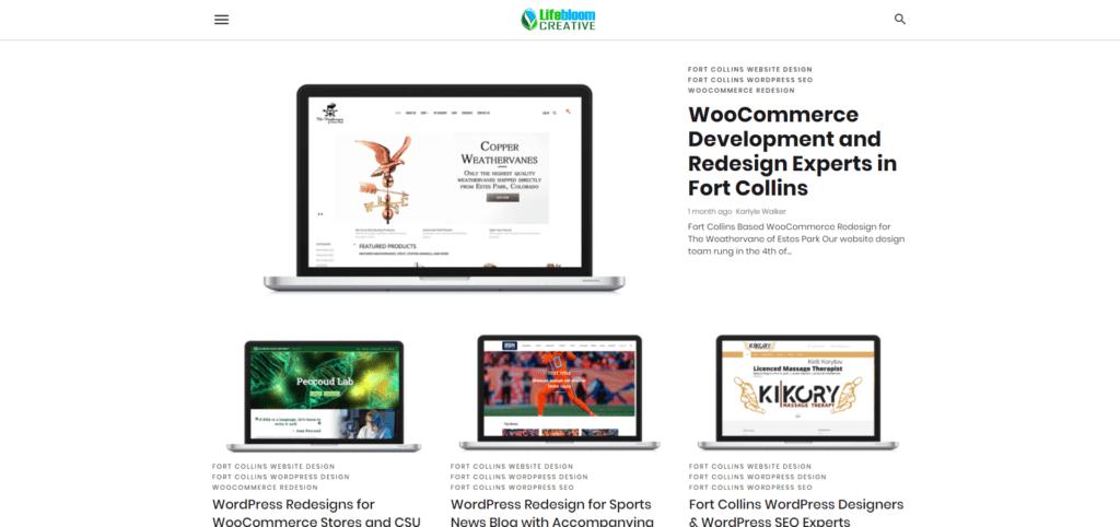 Google AMP for WordPress on Lifebloom Creative website