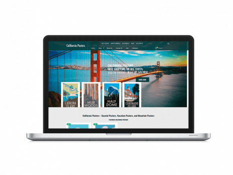 Responsive WordPress Design by Lifebloom Creative for California Posters